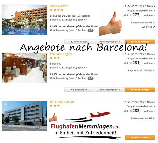 Flughafen Memmingen Angebote Barcelona