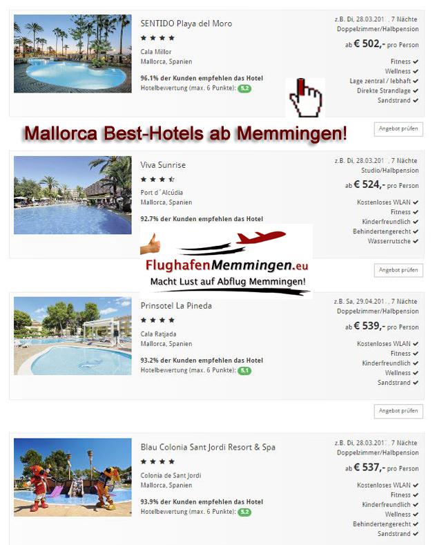 Mallorca Besthotels ab Memmingen