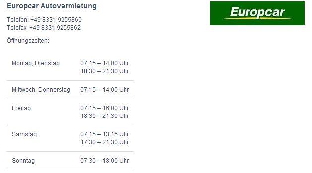 Europcar Memmingen