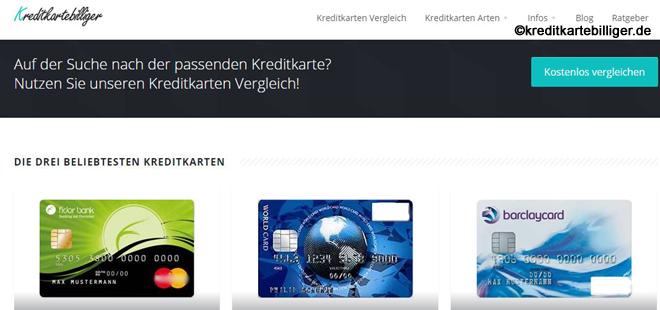 Kreditkarte billiger