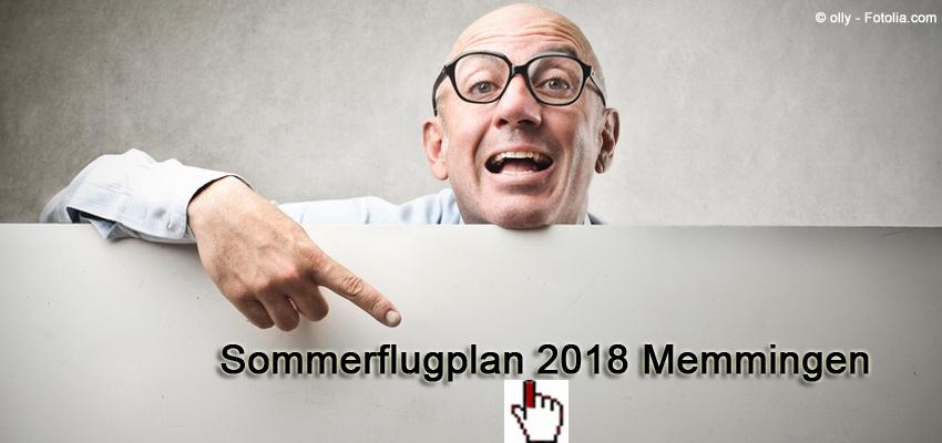 Sommerflugplan 2018 Flughafen Memmingen