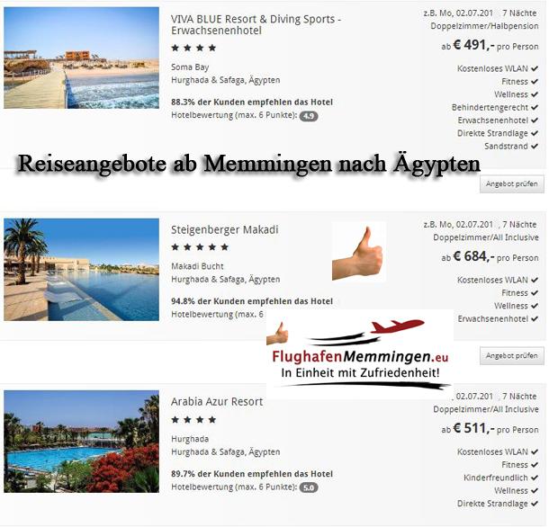 Reiseangebote Ägypten Hurghada ab Memmingen