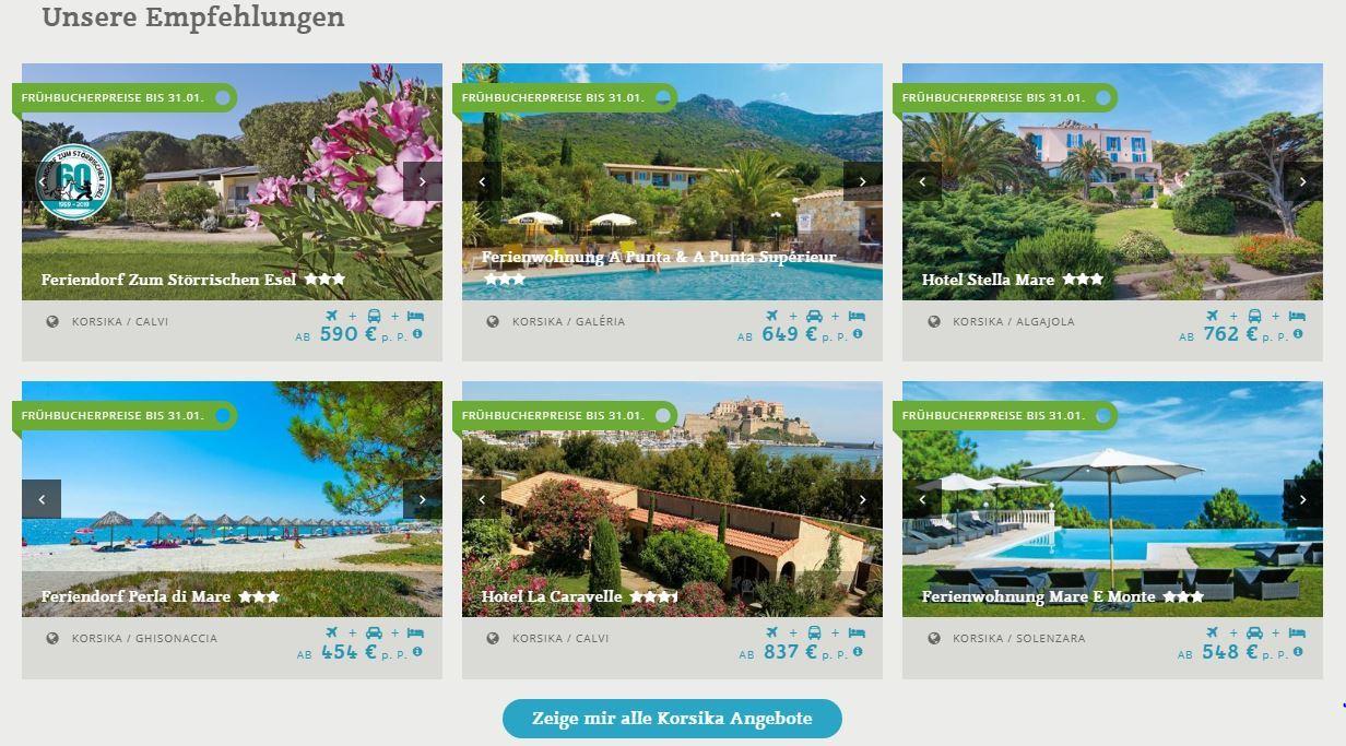 Angebote Korsika ab Memmingen