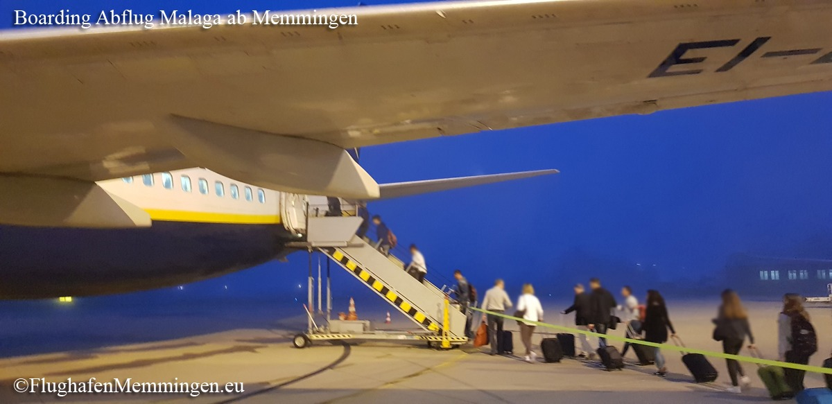 Boarding Ryanair nach Malaga mit Abflug Memmingen